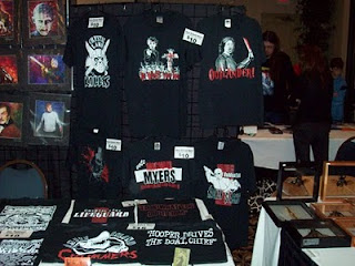 Screen Printing Factory table display at HorrorHound Cincinnati 2009