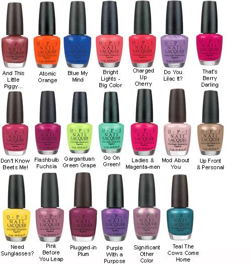 Opi Nail Polish Color Chart: Go Hard In The Paint: OPI Fun Fact
