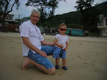 Daddy and Keohi on Silvermine Bay Beach