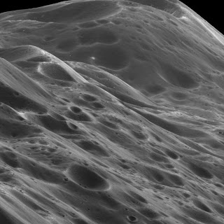 4,000 Kilometers Above Saturn's Moon 'Iapetus'
