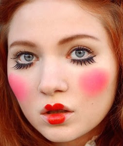 glamour  fashion  everything pink doll makeup inspired look