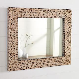 Sergun Küçük Odun Parçaları Ile Ayna Süsleme