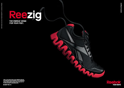 Reebok Reezig shoes sole technology print advertisement
