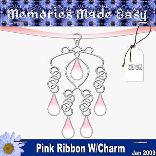 Pink Ribbon W/Charm MME_PinkCharm_PREVIEW