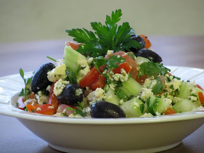 Little House of Veggies: Greek Salad with Lemon and Garlic ...
