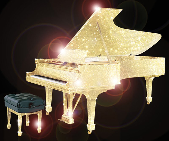 populary car: Would You Buy A Half Million Dollars Crystal Piano?