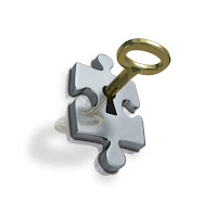 key in lock, puzzle, key to succes