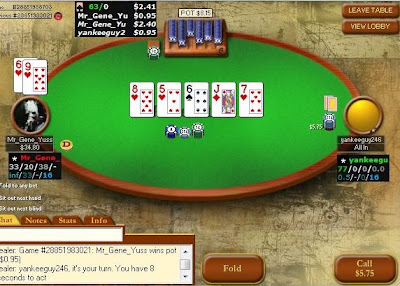Playing NL50 Headsup - Pokerstar's Challenge (97.4% complete)