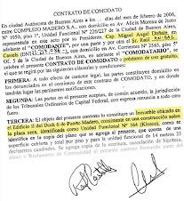 Modelo del contrato comodato