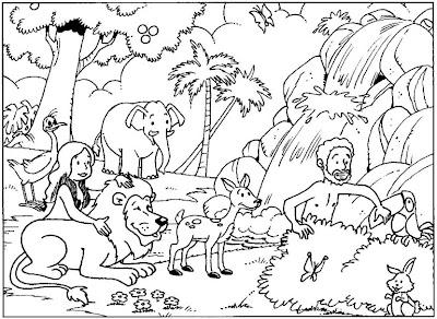 Ad%C3%A3o+e+Eva+no+jardim+do+eden Desenho Bíblico para colorir, desenhos educativos para escola dominical para crianças