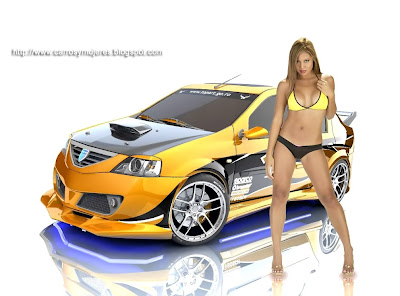 Wallpapers Gratis De Mujeres Y Carros