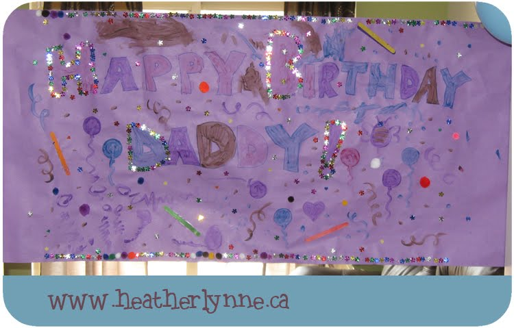 homemade happy birthday banner