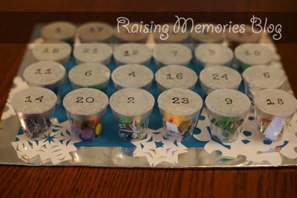 Diy Chocolate Advent Calendar : Raising memories homemade advent calendar