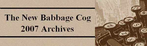 The New Babbage Cog 2007 Archives