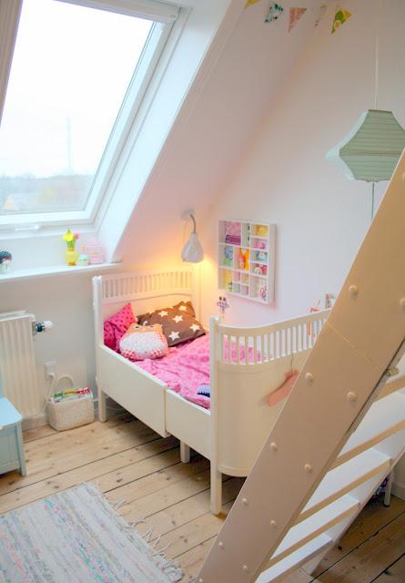Bare wunderbar: børneværelses update og en ide til skråvæggen...