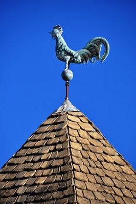 folk art rooster weathervane