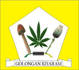 Plesetan Logo Partai Golkar Menjadi Golongan Kharam