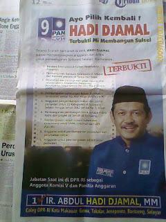 Iklan Caleg PAN Abdul Hadi Djamal - Kampanye Damai Pemilu Indonesia 2009