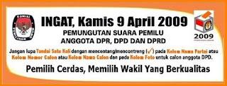 Pemilu 9 April 2009 Libur Nasional