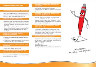 Brosur Prosedur Teknis Pemilu 2009 - halaman 2