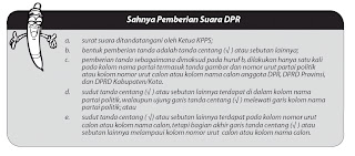 aturan sahnya pemberian suara dpr dan dprd