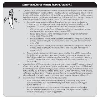 Ketentuan khusus tentang sahnya surat suara DPD