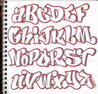 EL BLOG DE LANZA 78: LETRAS PARA GRAFFITIS