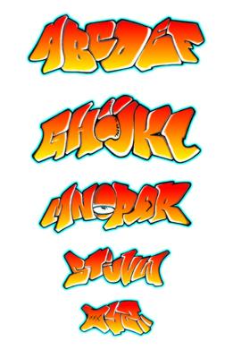 Letras para graffitis