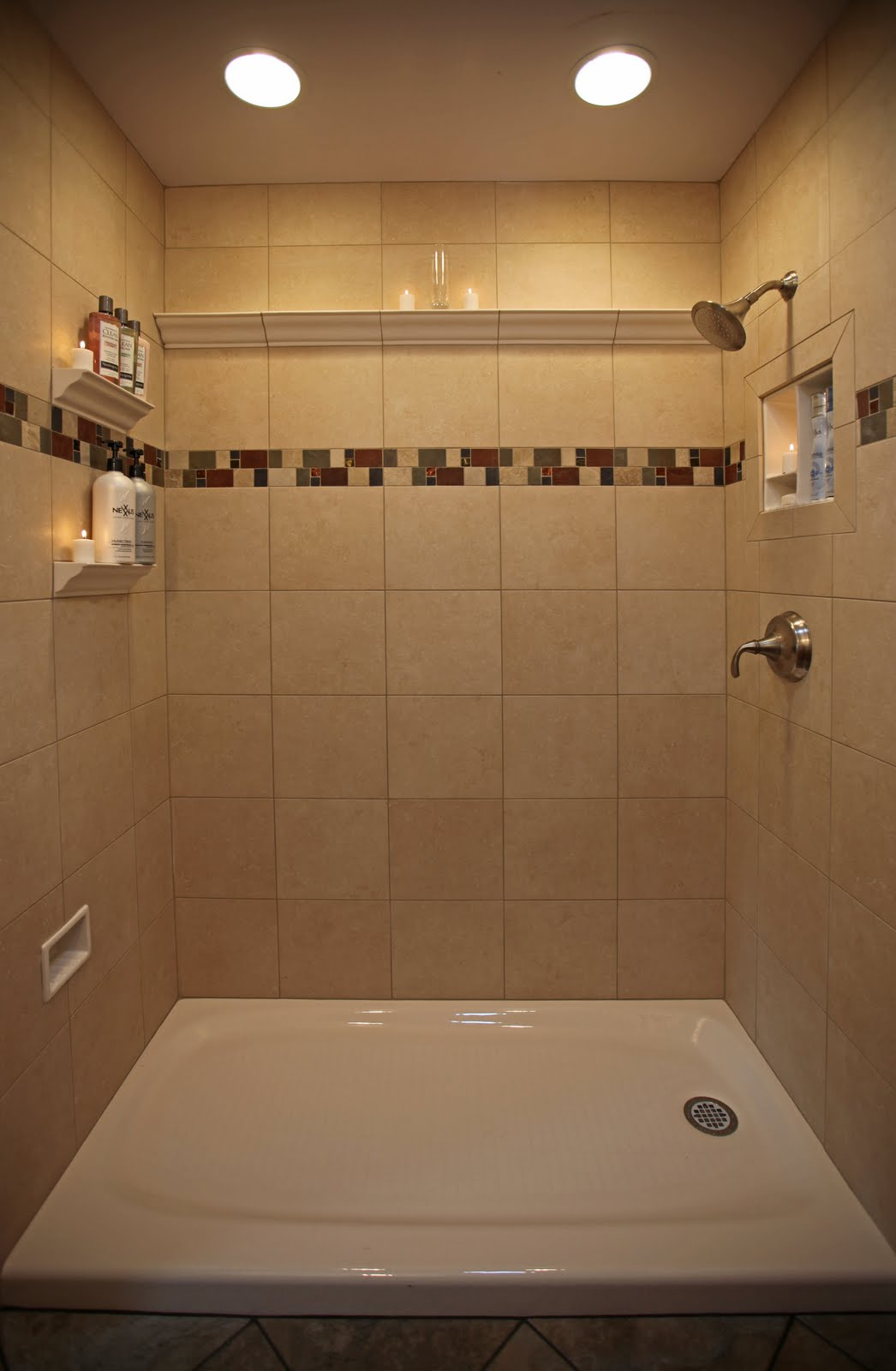 Bathroom Remodeling Design Ideas Tile Shower Niches: Bathroom Shower ...