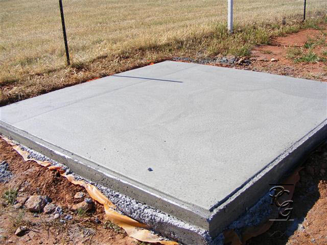 Peterborough Community Garden Concrete Slabs