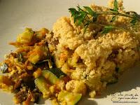 crumble legume courgette poireau carotte champignon parmesan recette
