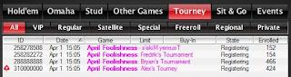 PokerStars' April Fool's tournaments