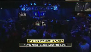Screen shot from ESPN's coverage of Event 4 of the 2008 WSOP