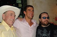 Doyle Brunson, Michael Phelps, Todd Brunson
