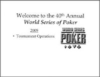 2009 WSOP Staff Resource Guide