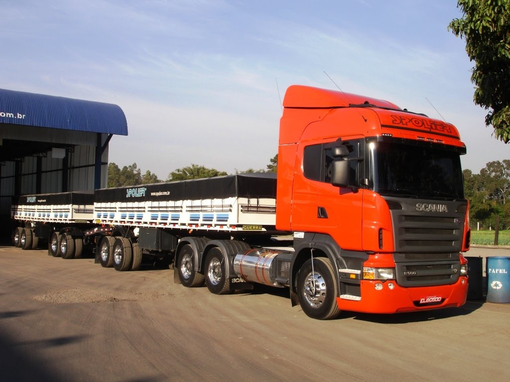 Spolier Transport   Brazil  Scania Highline R500 V8 Road Train