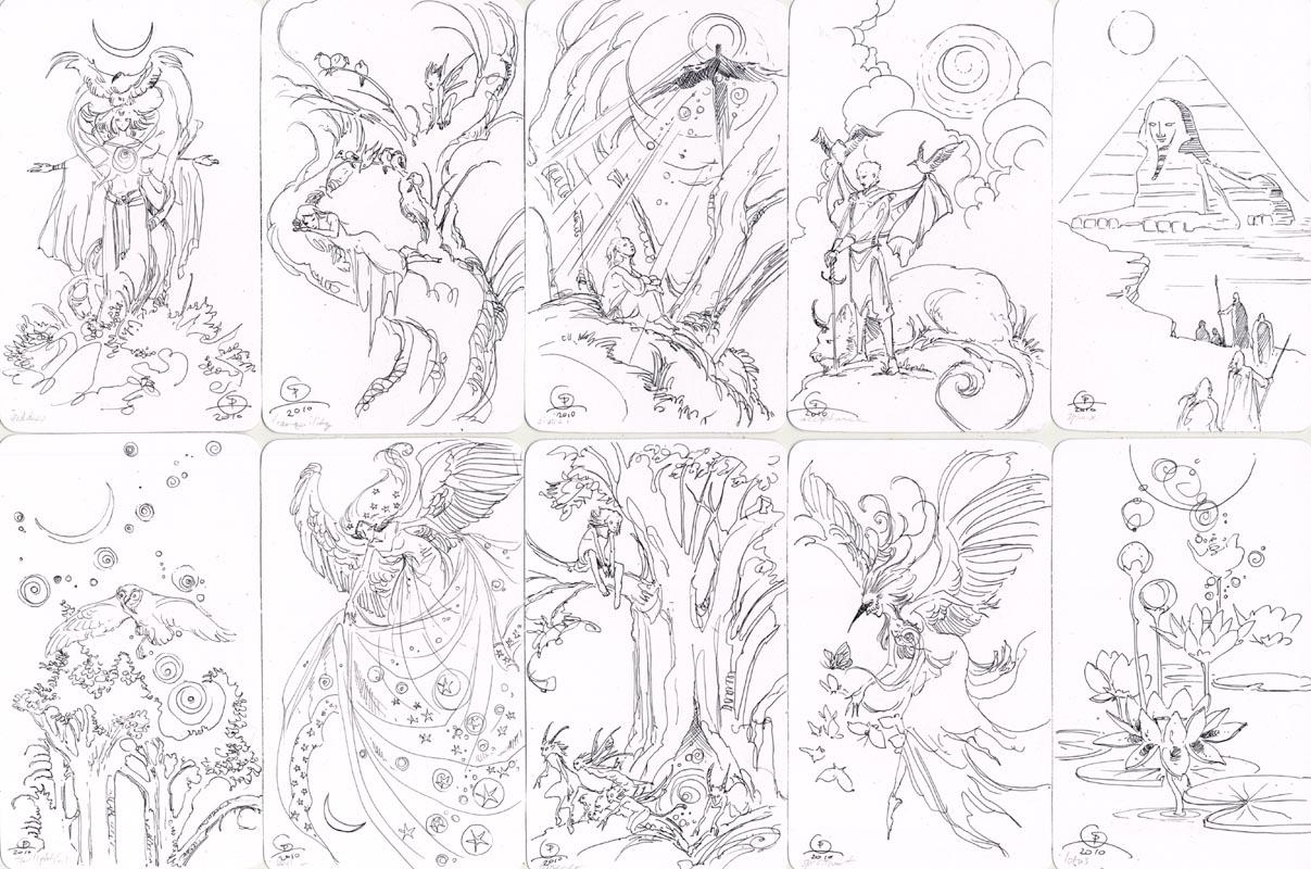 Midnight Ramblings: Keyword Sketch Cards