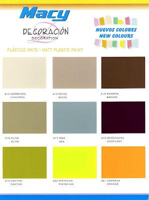 Carta Colores Pintura Pared Gallery Of Catalogo Colores Pintura