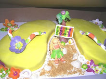 Flip Flop Beach Cake