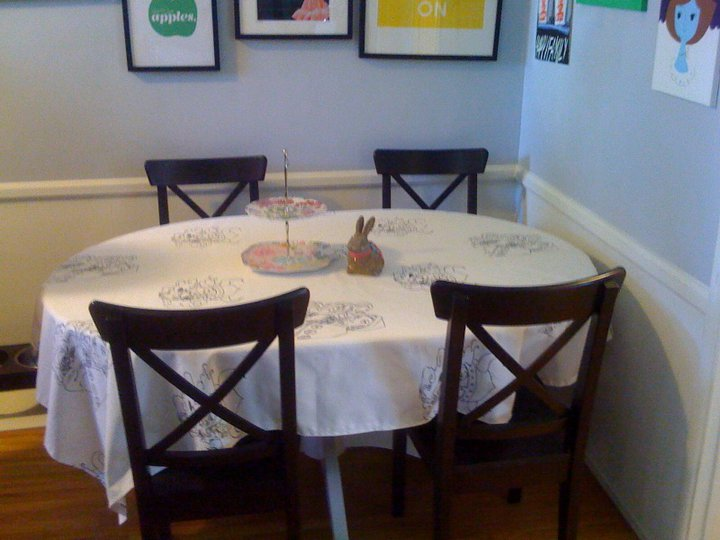 how to make a tablecloth look modern