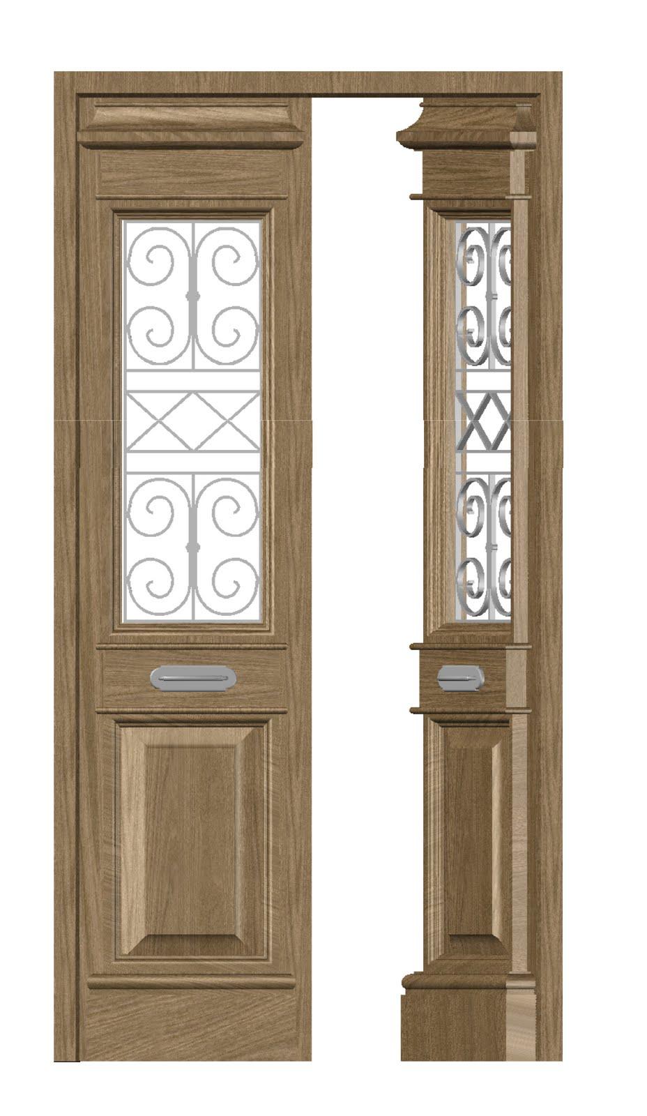 Dise os en madera puerta exterior de forja for Disenos puertas de madera exterior