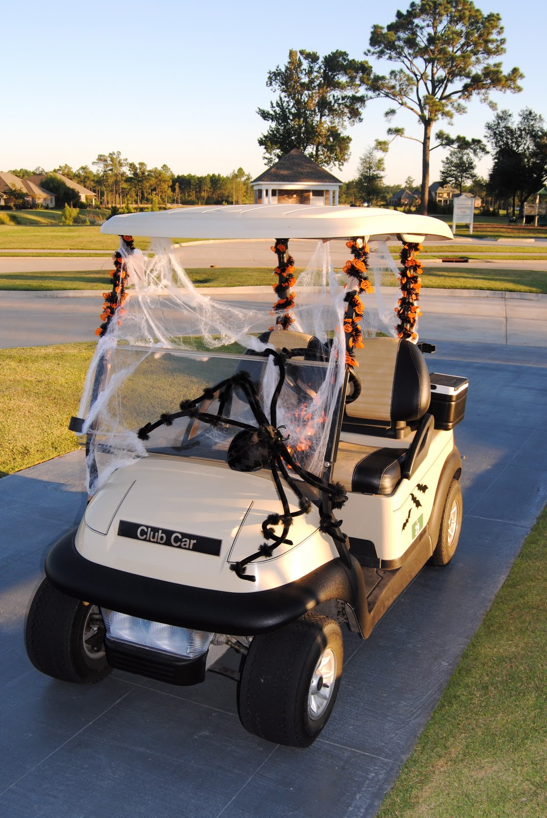 decorated the golf cart with a few halloween touches