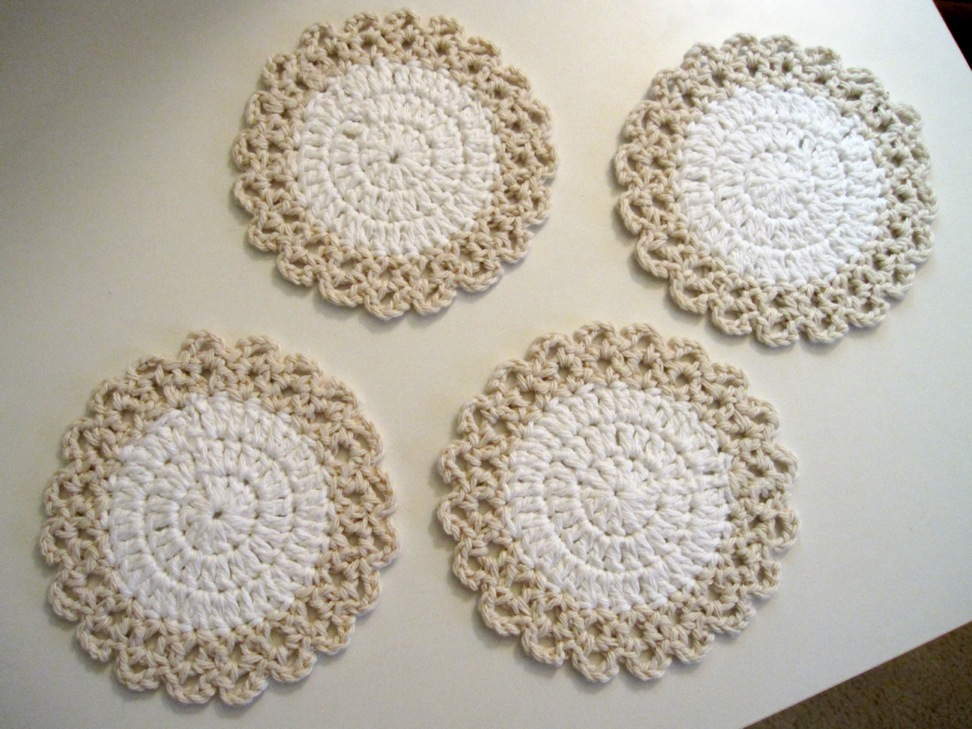 Free Crochet Patterns Of Coasters : Sew Many Happies: Crochet Coasters