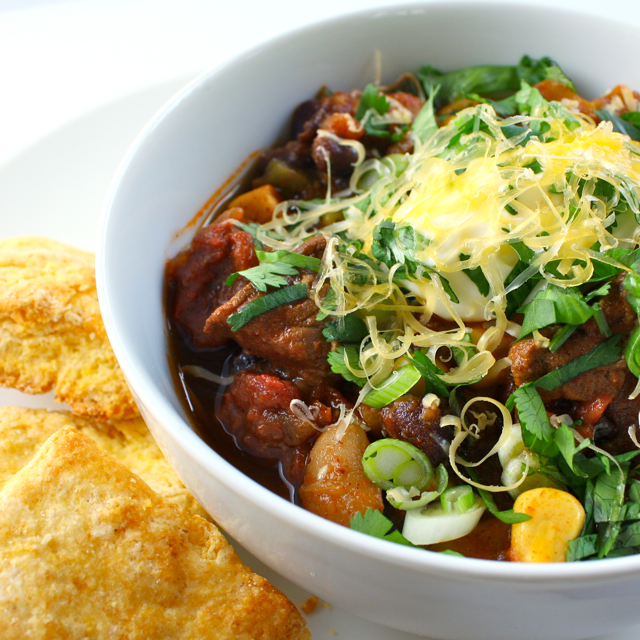 Beef Chili with Poblanos and Beer | Liv Life