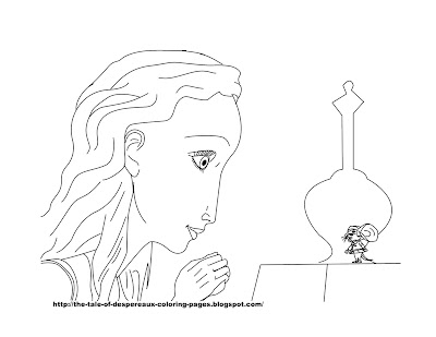 coloring pages disney princess. Despereaux Coloring Pages