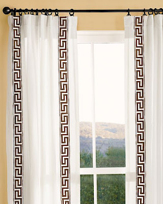 Key embroidered drapes from Pottery Barn