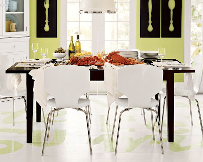 Dining table and chairs from Pottery Barn