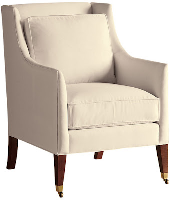 Rolling Regency Chair from Baker Furniture