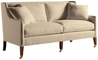 Regency sofa on casters from Baker Furniture