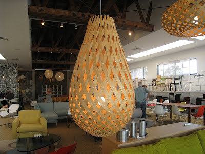 Woven wood pendant light from Design Within Reach